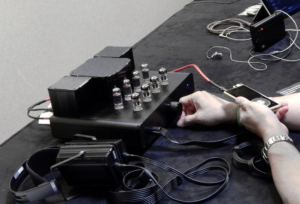 Woo Audio GES Electrostatic Headphone Amplifier, STAX SR-L700MK2 Electrostatic Earspeaker, Questyle Audio QP2R DAP