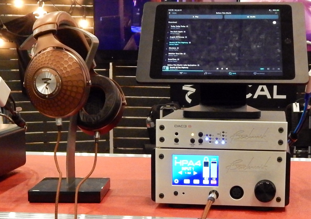 Focal Stellia Closed-Back Headphones, Benchmark DAC 3 B Digital to Analog Converter, Benchmark HPA4 Reference Headphone Amplifier