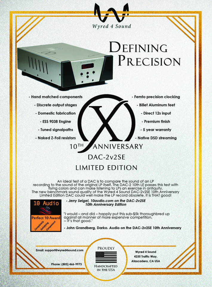 Wyred 4 Sound Announces 10th Anniversary DAC-2v2SE Limited Edition