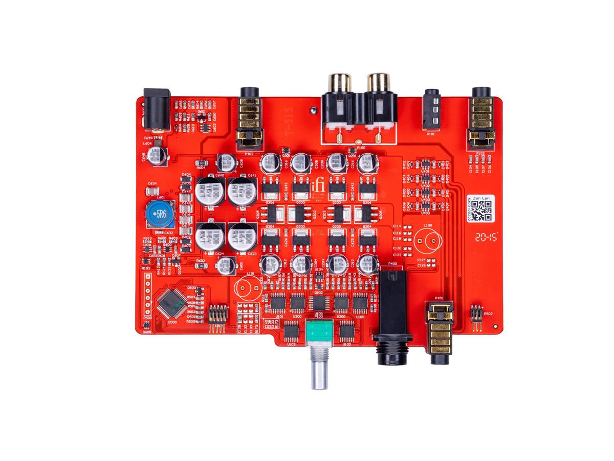 ZEN CAN's circuit board, revealing the discrete, balanced design