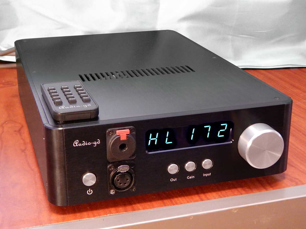 Audio-gd NFB-1 AMP Headphone Amplifier/Preamp – Gold Standard