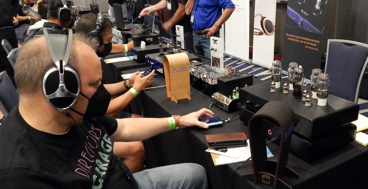 Meze Audio Elite Open-Back Isodynamic Hybrid Planar Headphones, Woo Audio WA33 Fully-Balanced Headphone Amp/Preamp, McIntosh MHA200 2-Channel Vacuum Tube Headphone Amplifier, Woo Audio WA7 Fireflies Headphone Amplifier/DAC CanJam SoCal 2021