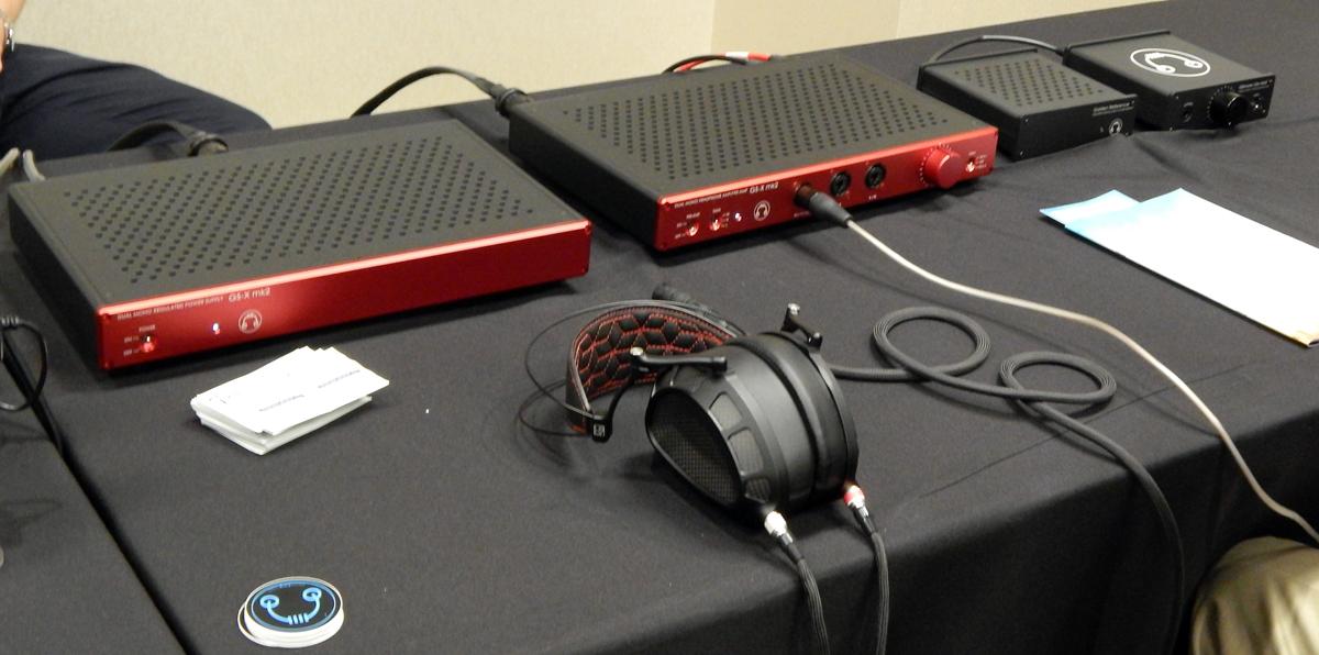 Dan Clark Audio Stealth Planar Magnetic Headphone, HeadAmp GS-X mk2 Balanced Headphone Amplifier/Pre-Amplifier, HeadAmp Gilmore Lite Mk2 Class-A Headphone Amplifier CanJam SoCal 2021