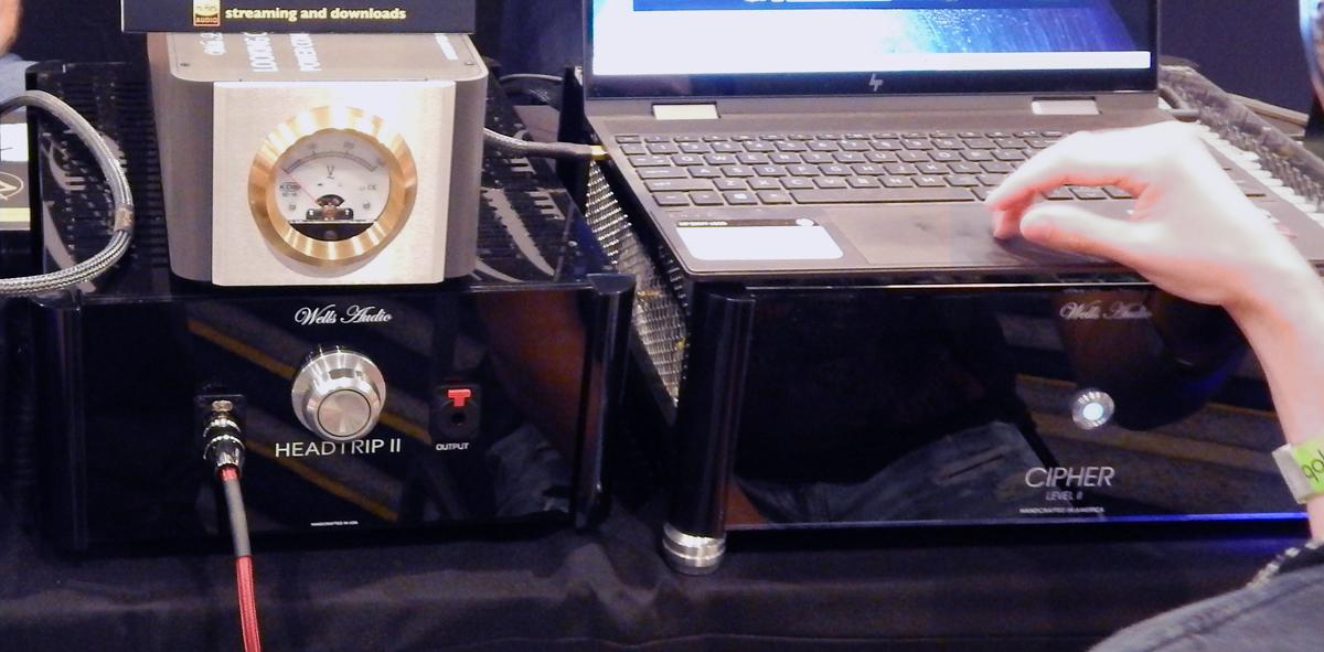 Wells Audio Looking Glass II Power Line Conditioner, Wells Audio Headtrip II Headphone Amplifier,  Wells Audio Cipher Tube DAC CanJam SoCal 2021
