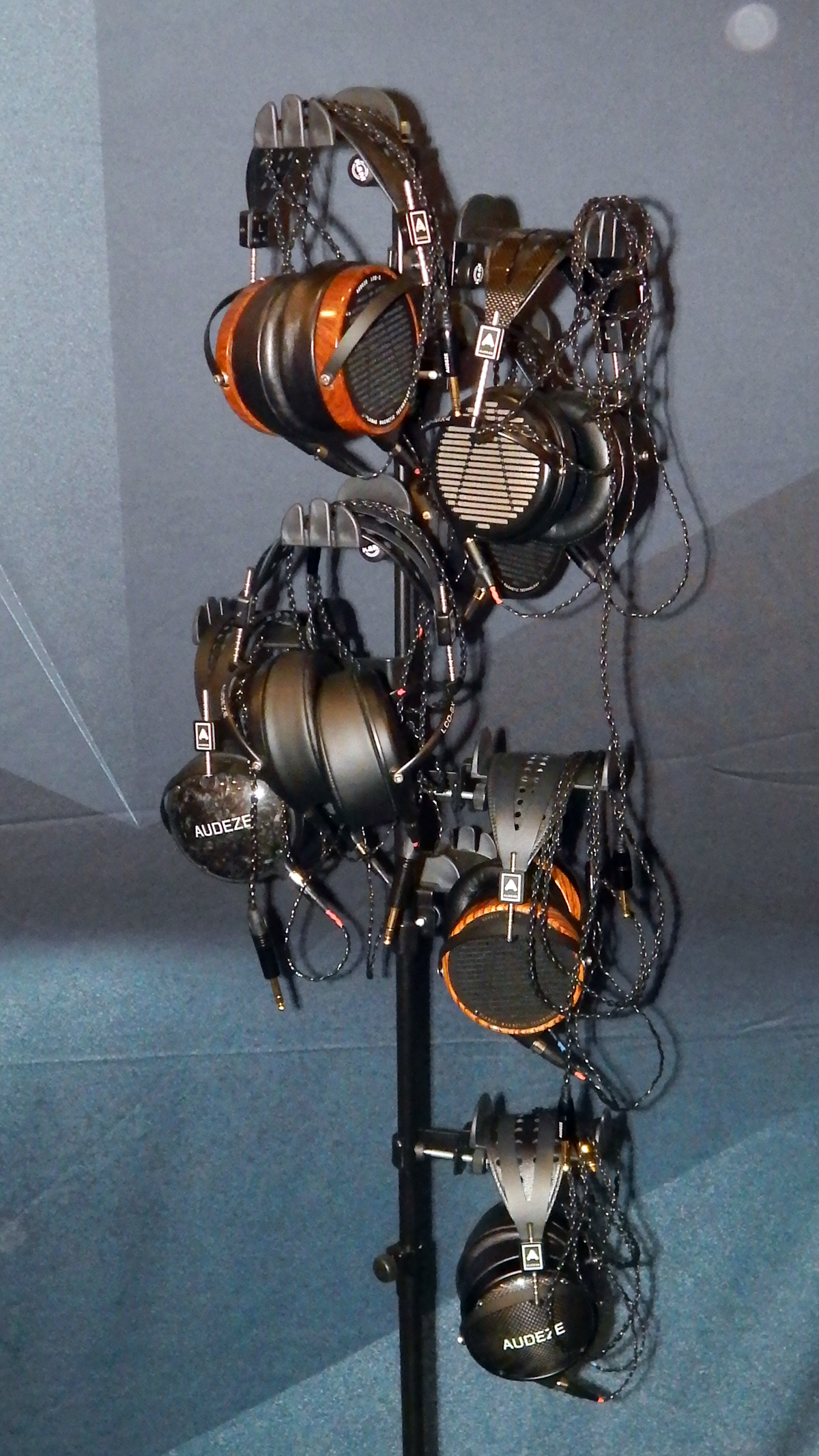The Audeze tree of headphones displaying their LCD line of headphones for quick easy access by CanJam SoCal 2021 attendees. CanJam SoCal 2021